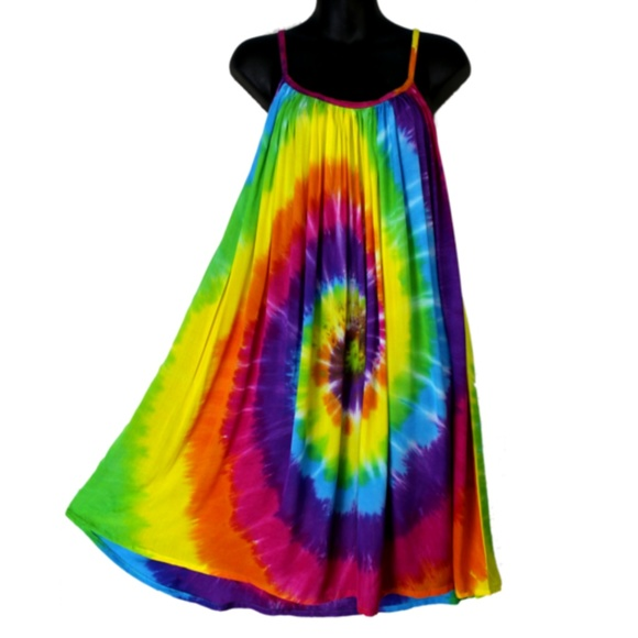 c58c62283da Rainbow Spiral Swingy Sundress